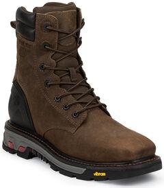Justin Original Commander X5 Lace-Up Waterproof Boots - Steel Toe , Timber, hi-res
