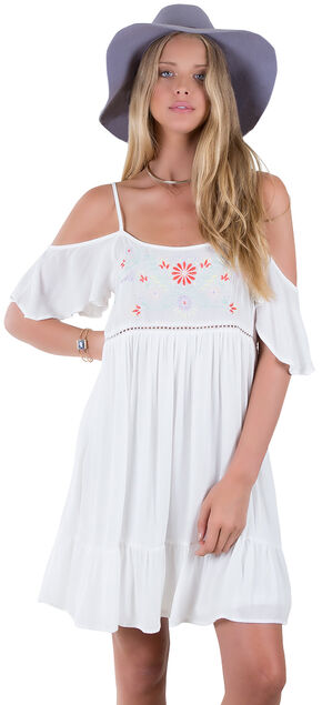 Others Follow White Harbor Mist Off Shoulder Dress , White, hi-res