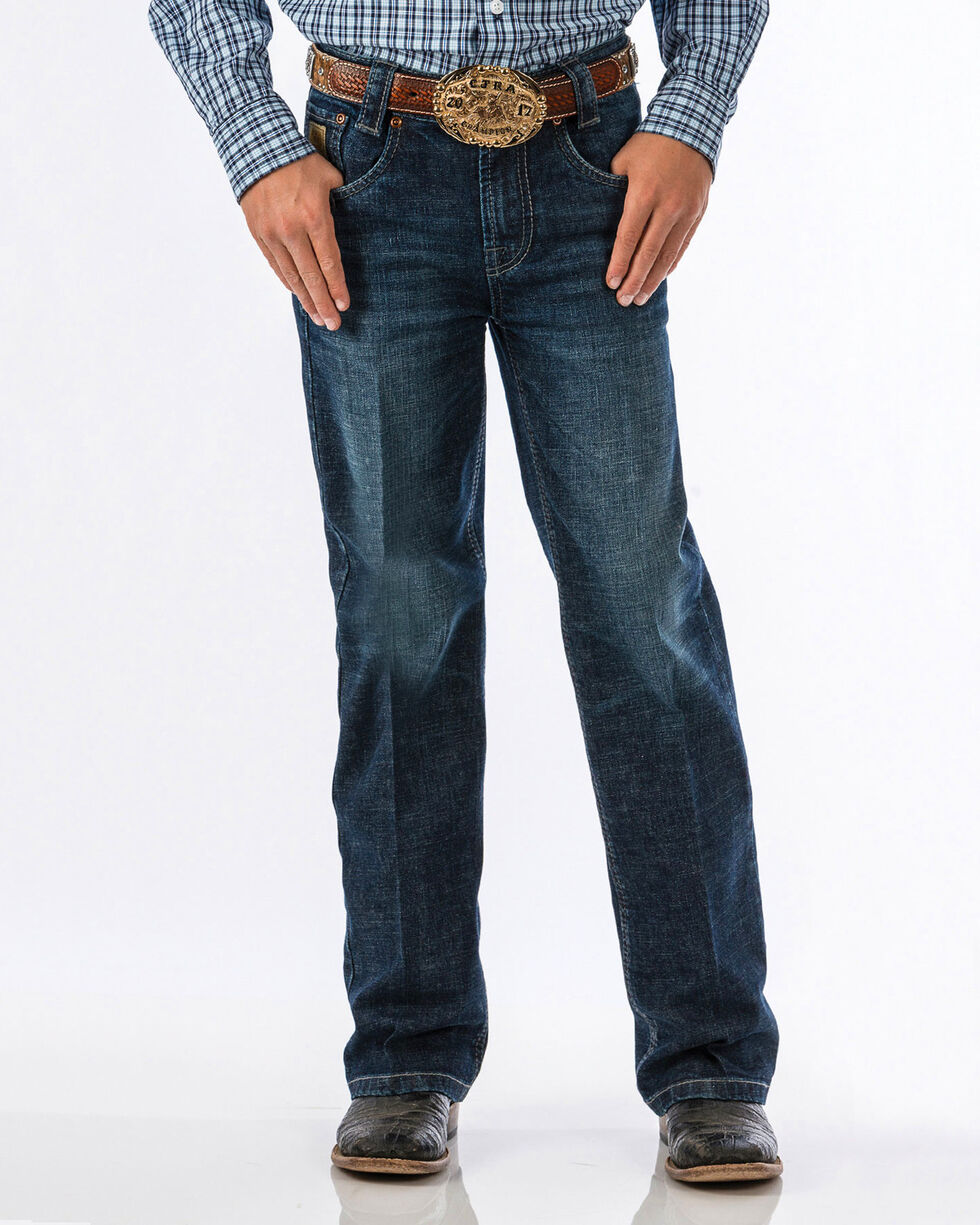 Cinch Boys' Carter Dark Wash Slim Fit Jeans (8-18) - Boot Cut, , hi-res