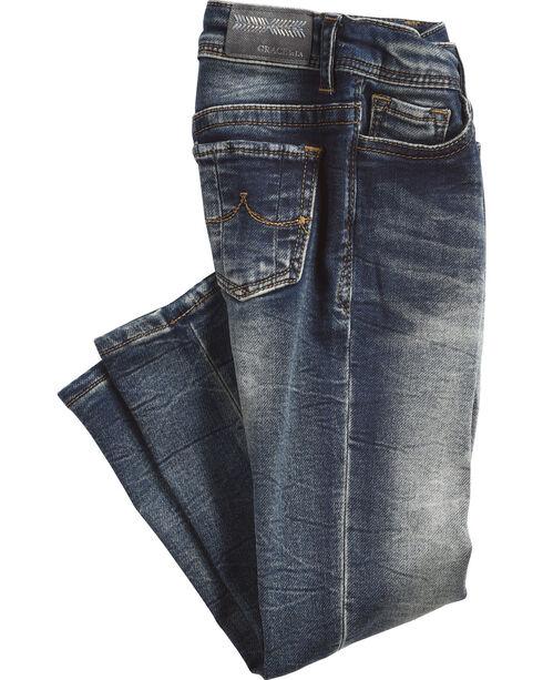 Grace in LA Girls' (4-6X) Simple Pocket Jeans - Skinny , Indigo, hi-res