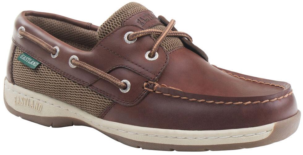 Eastland Women's Chestnut Brown Solstice Boat Shoe Oxfords  , , hi-res