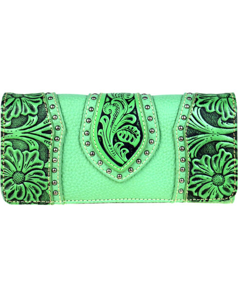 Montana West Trinity Ranch Women's Tooled Leather Wallet, , hi-res