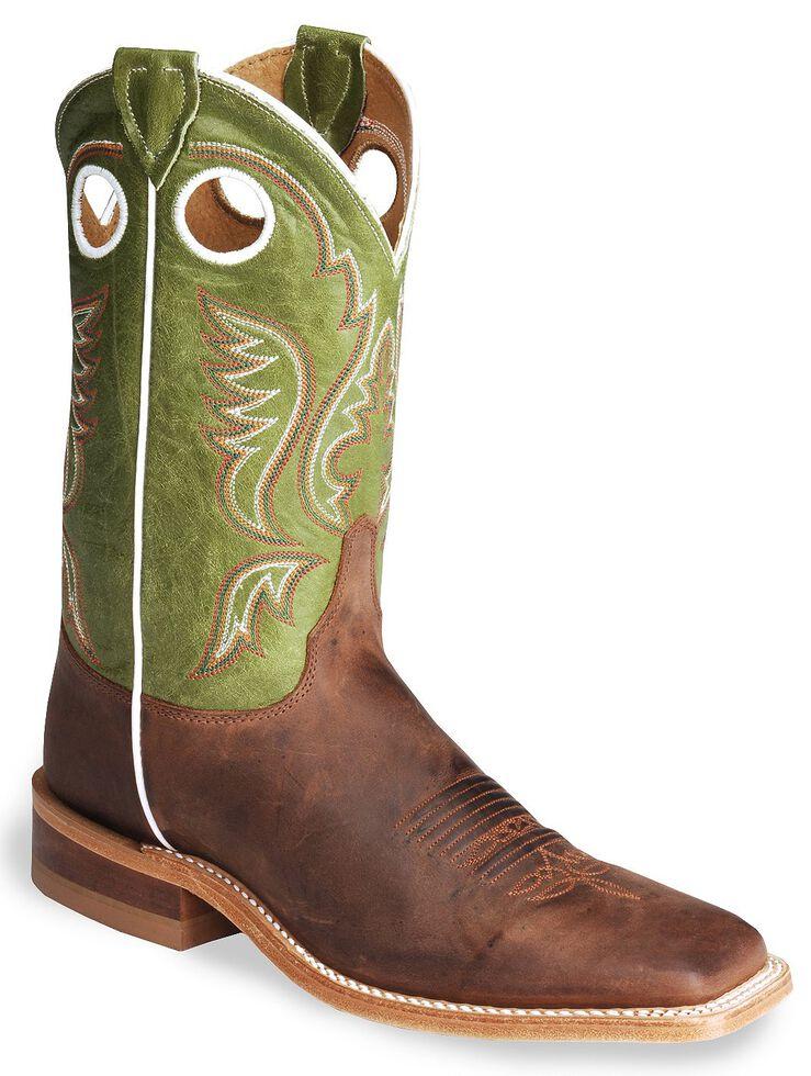 a69fe67aee3 Justin Bent Rail Cognac Cowboy Boots - Square Toe