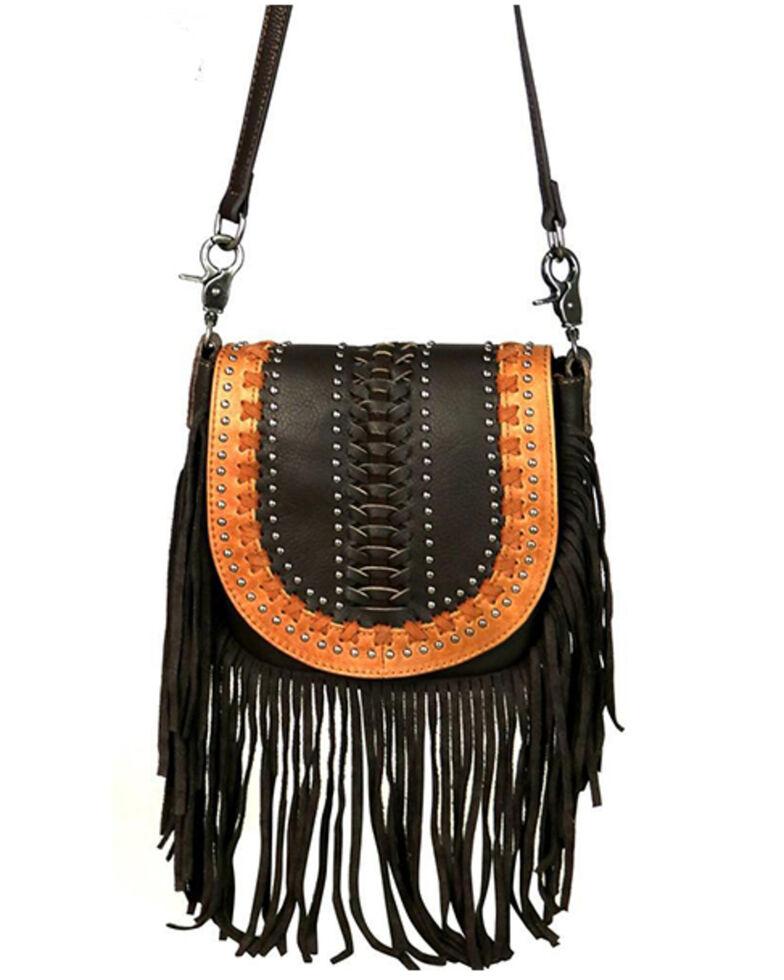 Montana West Women's Coffee Fringe Crossbody Bag, Coffee, hi-res