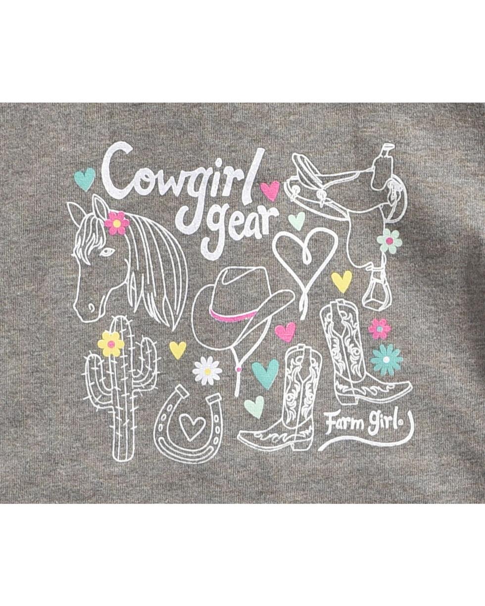 Farm Girl Toddler Girls' Grey Cowgirl Gear Hoodie , Grey, hi-res