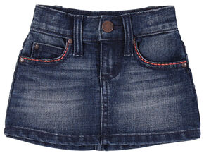Wrangler Toddler Girls' Blue Five Pocket Denim Skirt, Blue, hi-res