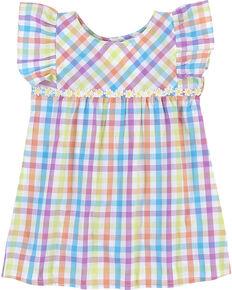 03d5079b Wrangler Toddler Girls Plaid Ruffle Sleeve Tunic , Multi, hi-res