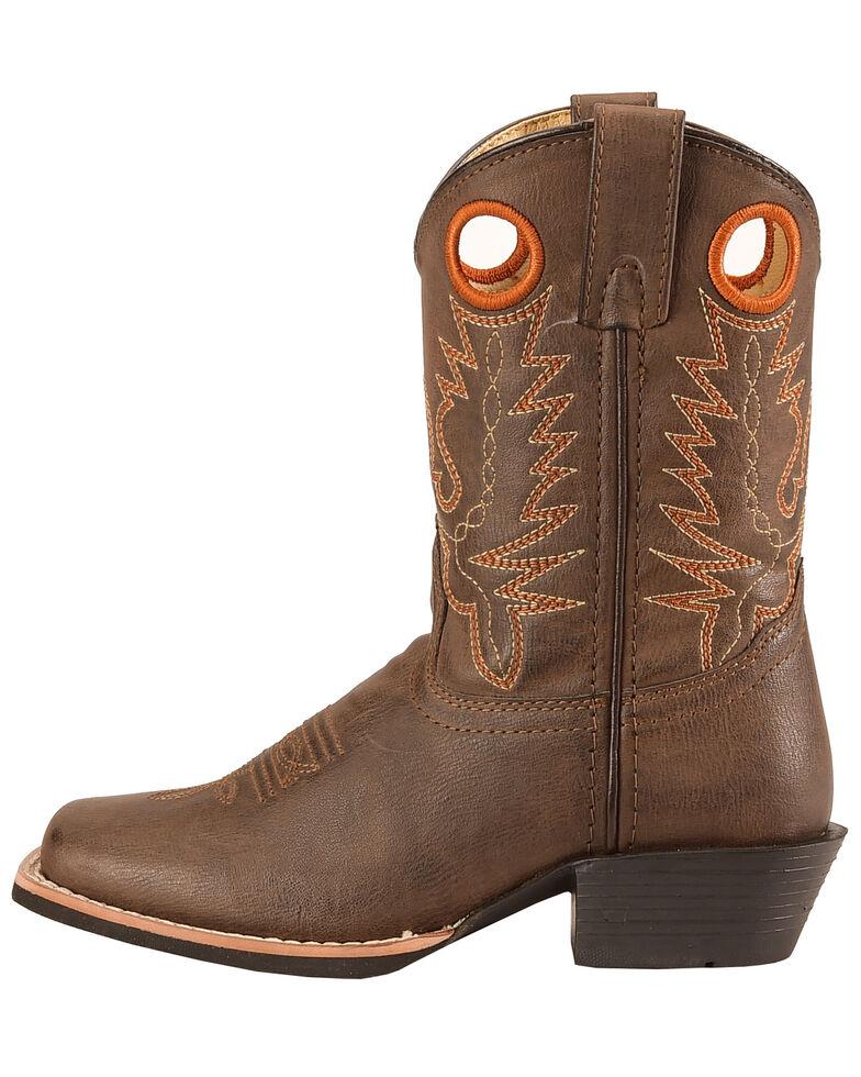Swift Creek Boys' Brown Cowboy Boots - Square Toe, , hi-res