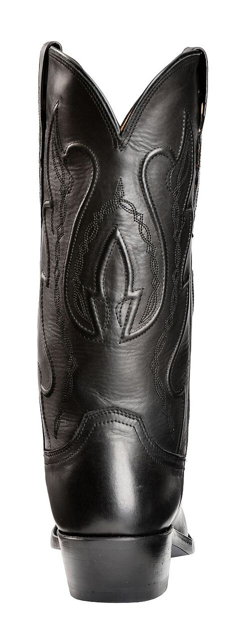 Lucchese Handcrafted 1883 Western Ranch Hand Cowboy Boots - Round Toe, Black, hi-res