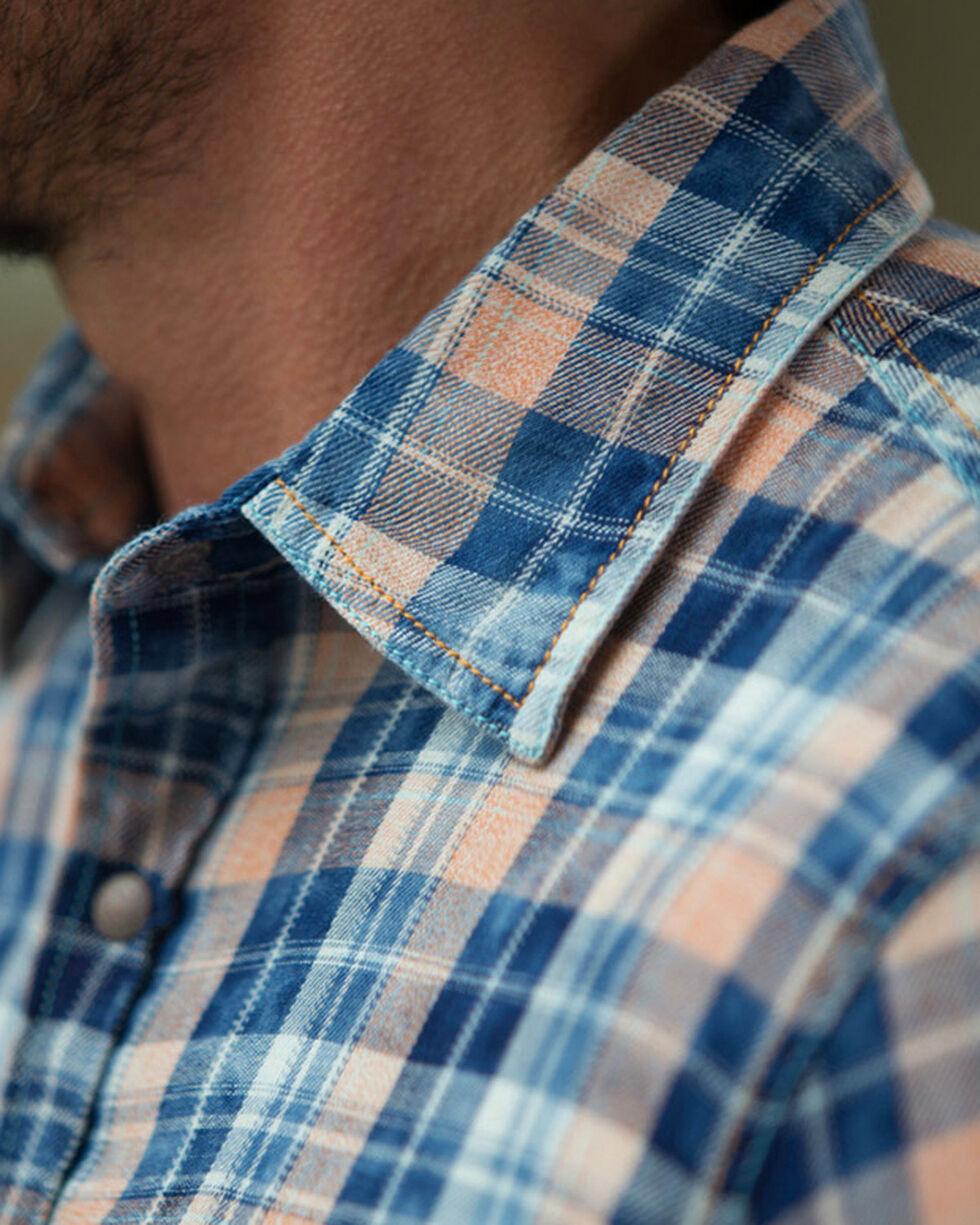 Ryan Michael Men's Indigo Poster Plaid Cloud Wash Shirt, Indigo, hi-res