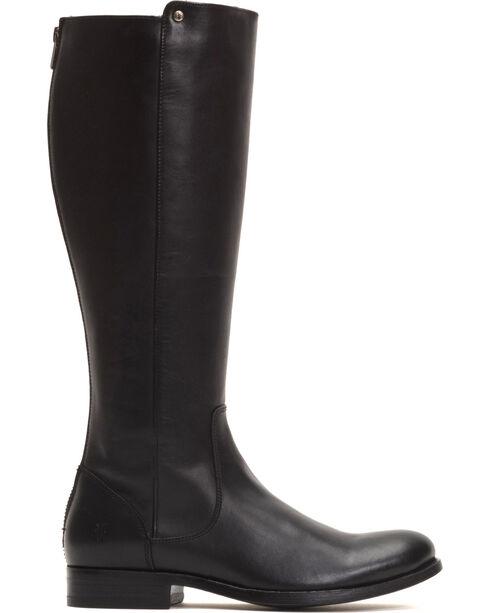 Frye Women's Black Melissa Stud Back Zip Boots - Round Toe , Black, hi-res