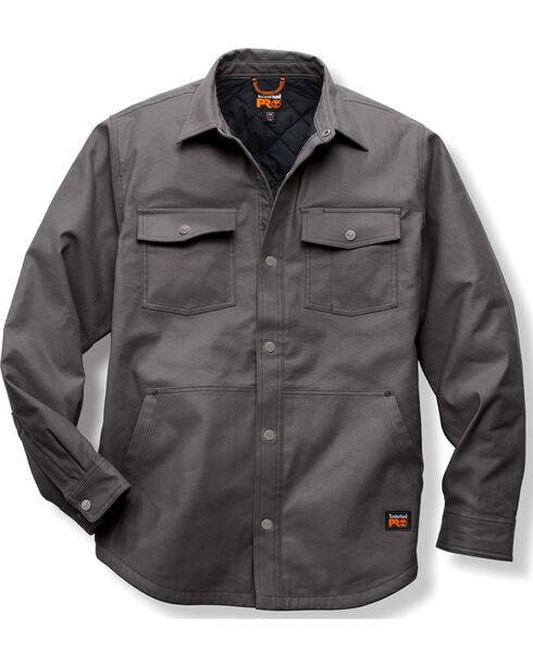 Timberland PRO Grey Gridflex Insulated Shirt Jacket , Charcoal Grey, hi-res