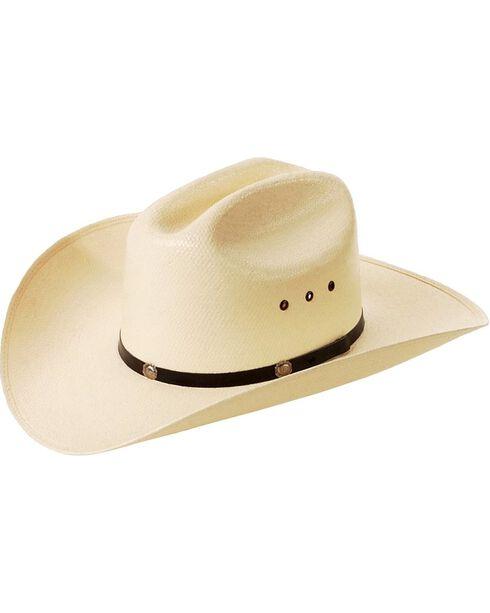 Cattleman Straw Cowboy Hat, Natural, hi-res