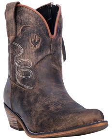 Dingo Women's Adobe Rose Western Boots - Medium Toe, Taupe, hi-res