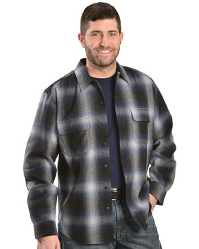 Woolrich Bering Blue Ombre Plaid 7-Oz Wool Shirt, Blue, hi-res