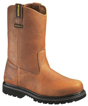 Caterpillar Edgework Waterproof Pull-On Work Boots - Round Toe, Mahogany, hi-res
