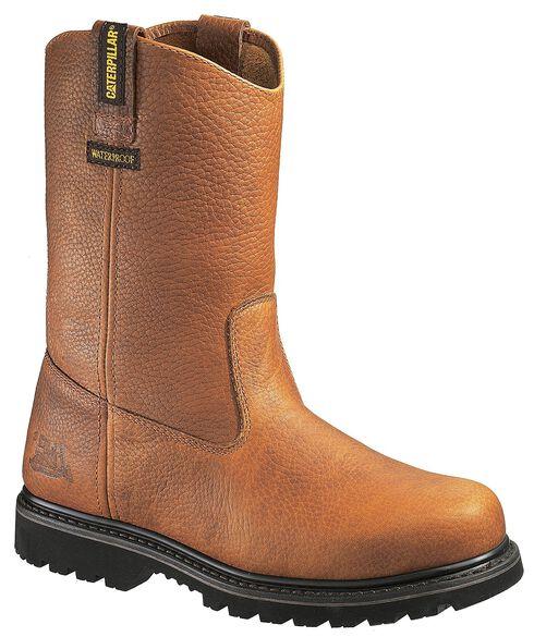 Caterpillar Edgework Waterproof Pull-On Work Boots - Steel Toe, Mahogany, hi-res