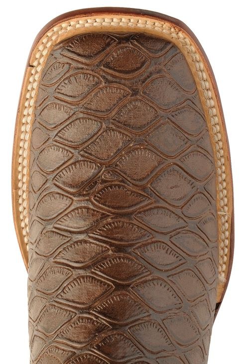 Ferrini Chocolate Anteater Print Cowboy Boots - Wide Square Toe, Chocolate, hi-res
