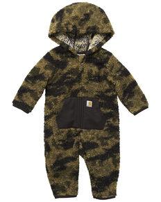 Carhartt Infant Boys' Camo Fleece Zip Front Coverall , Camouflage, hi-res