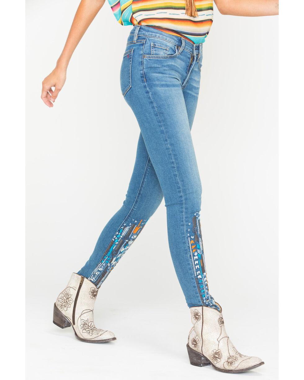 MM Vintage Women's Anais Blue Skinny Jeans , Indigo, hi-res