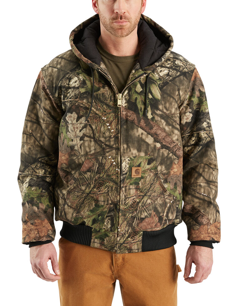 2f94ee317 Carhartt Quilted Flannel Lined Camo Active Jacket