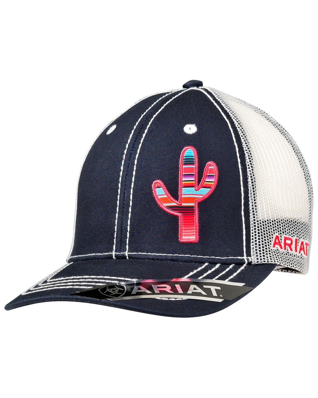 aa5e9294fb124 ... closeout ariat womens cactus trucker cap navy hi res 832e5 2a609