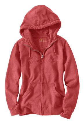 Carhartt Clarksburg Zip-Front Hooded Jacket, Rose, hi-res