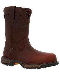 Durango Men's Maverick Wellington Waterproof Western Work Boots - Composite Toe, Brown, hi-res