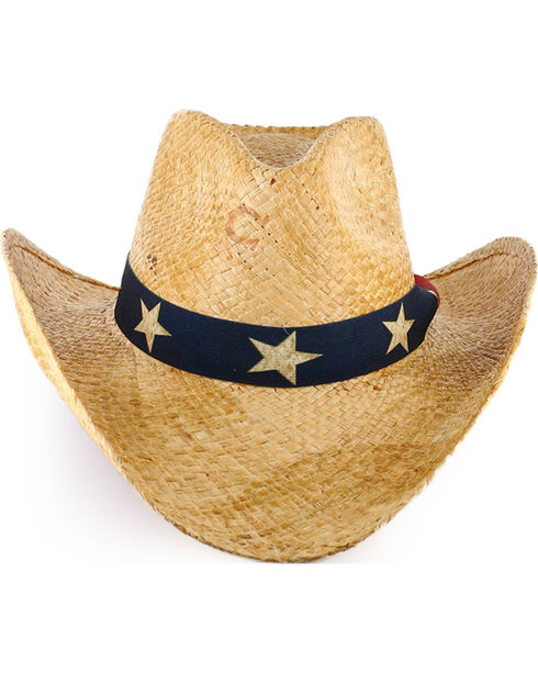 Charlie 1 Horse Flag Straw Hat, Natural, hi-res
