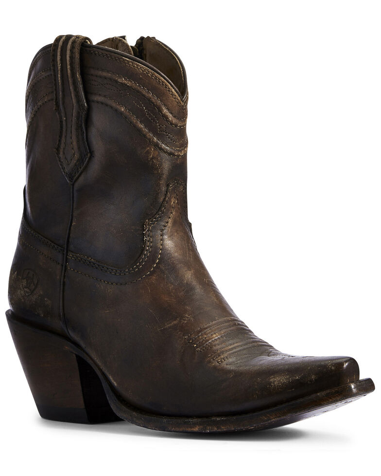 Ariat Women's Legacy Brown Fashion Booties - SnipToe, Brown, hi-res