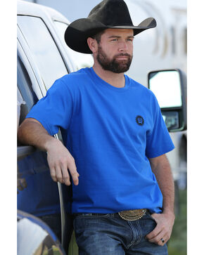 Cinch Men's Royal Blue Classic Cinch Crew Neck Tee , Royal Blue, hi-res