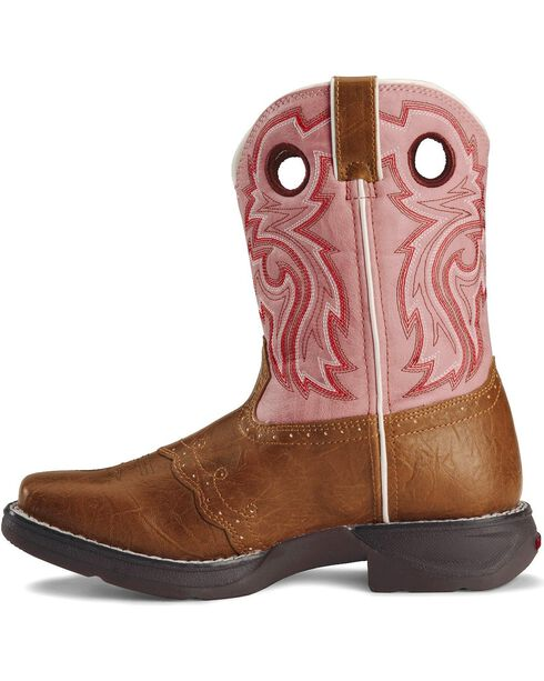 Durango Girls' Tan Lil' Flirt Cowgirl Boots - Square Toe, Tan, hi-res