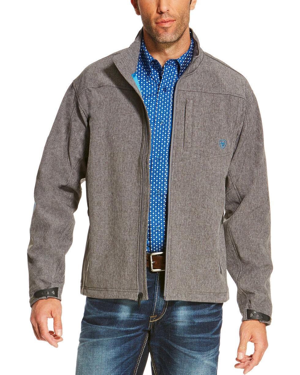 Ariat Men's Charcoal Softshell Logo Jacket, Charcoal, hi-res