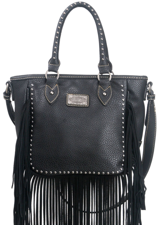 Montana West Trinity Ranch Fringe Design Handbag, , hi-res