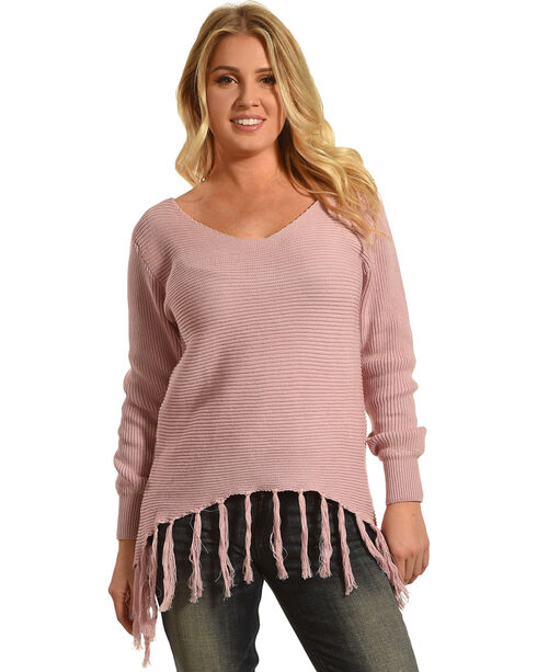 Angel Premium Women's Pink Stevie Sweater , Pink, hi-res