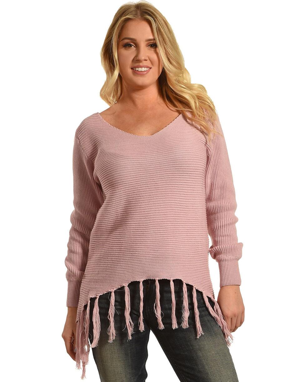 Angel Premium Women's Pink Stevie Sweater , Pink, hi-res