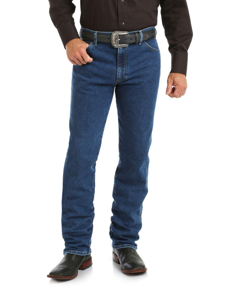 Wrangler Men's Cowboy Cut Active Flex Stone Wash Bootcut Jeans , Blue, hi-res