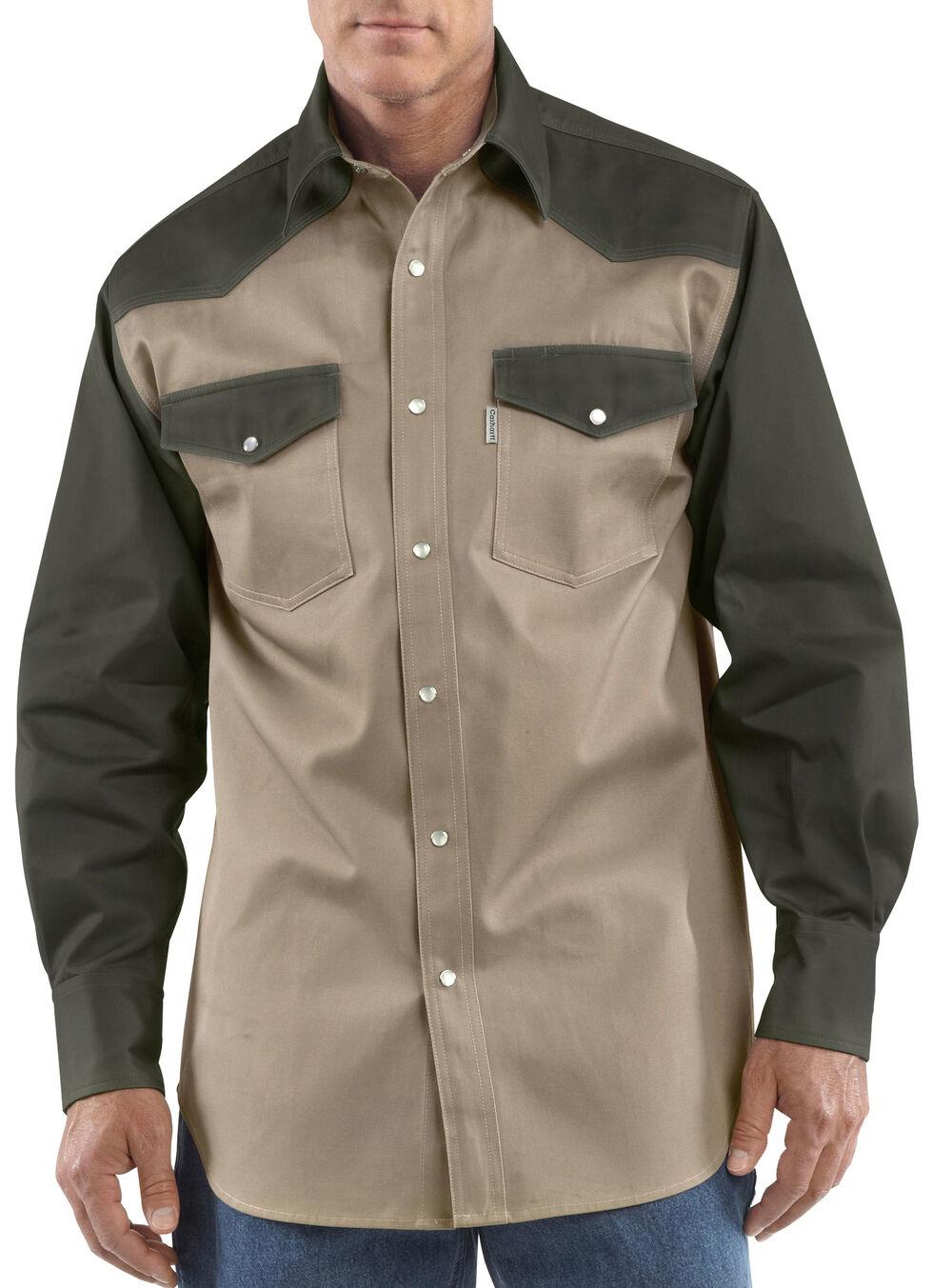 Carhartt Ironwood Twill Work Shirt - Big & Tall, Khaki, hi-res
