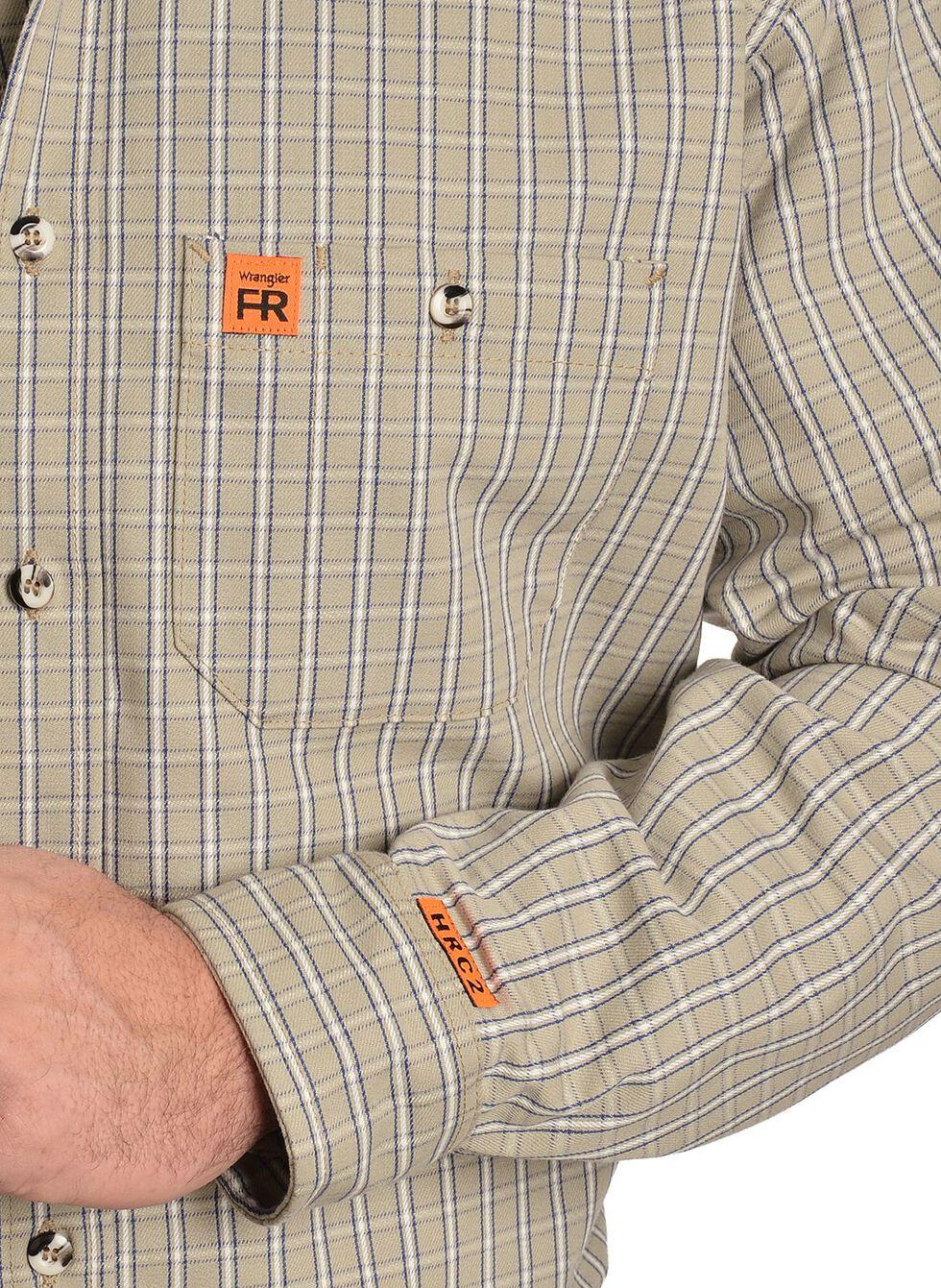 Wrangler Flame Resistant RIGGS Work Shirt, Khaki, hi-res