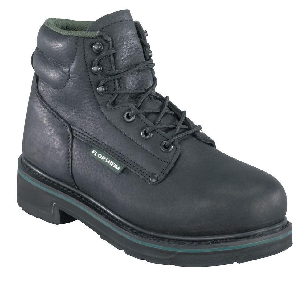 "Florsheim Men's Utility 6"" Work Boots - Steel Toe, Black, hi-res"