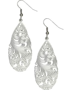 Montana Silversmiths Filigree Teardrop Earrings, Silver, hi-res
