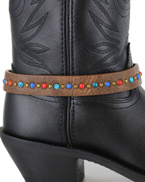 Shyanne Women's Brown Multi Colored Boot Bracelet, Brown, hi-res