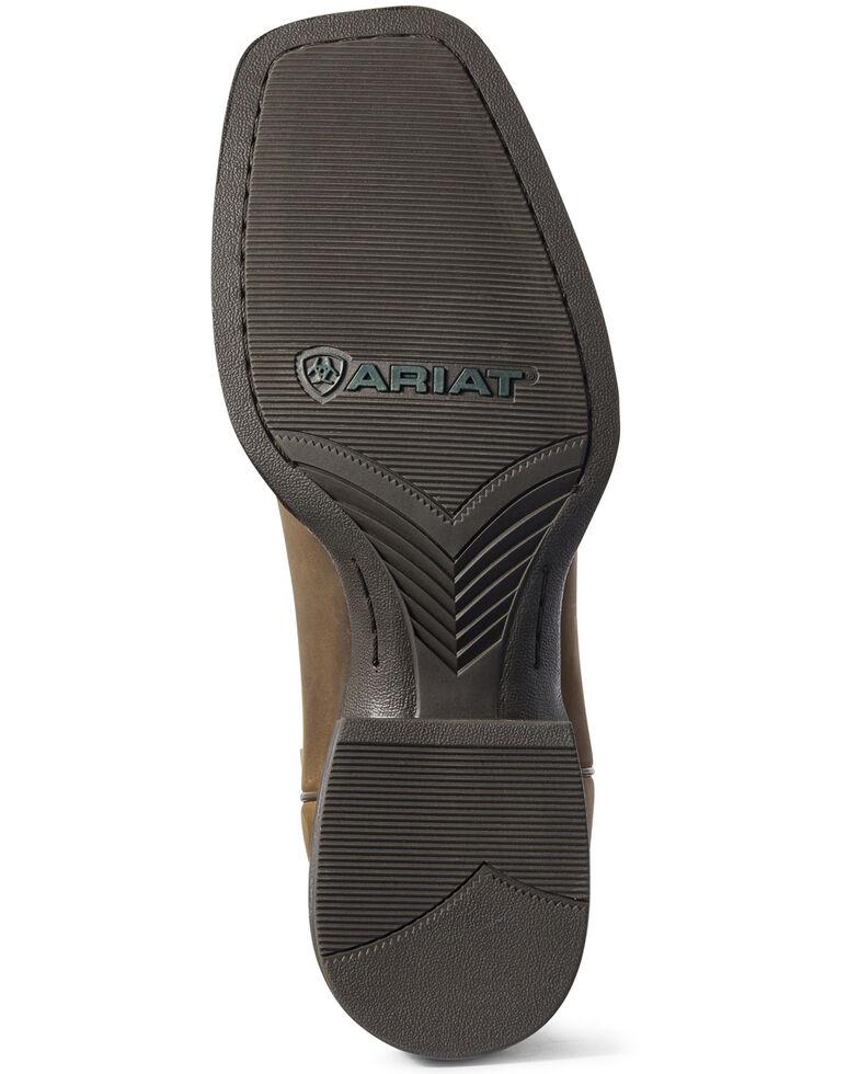 Ariat Men's Sport Patriot II American Flag Western Boots - Wide Square Toe, Brown, hi-res
