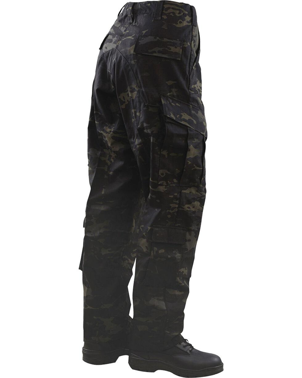 Tru-Spec Tactical Response Camo Uniform Pants, Black, hi-res