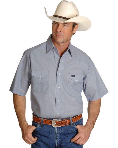 Wrangler Chambray Work Shirt, Chambray, hi-res