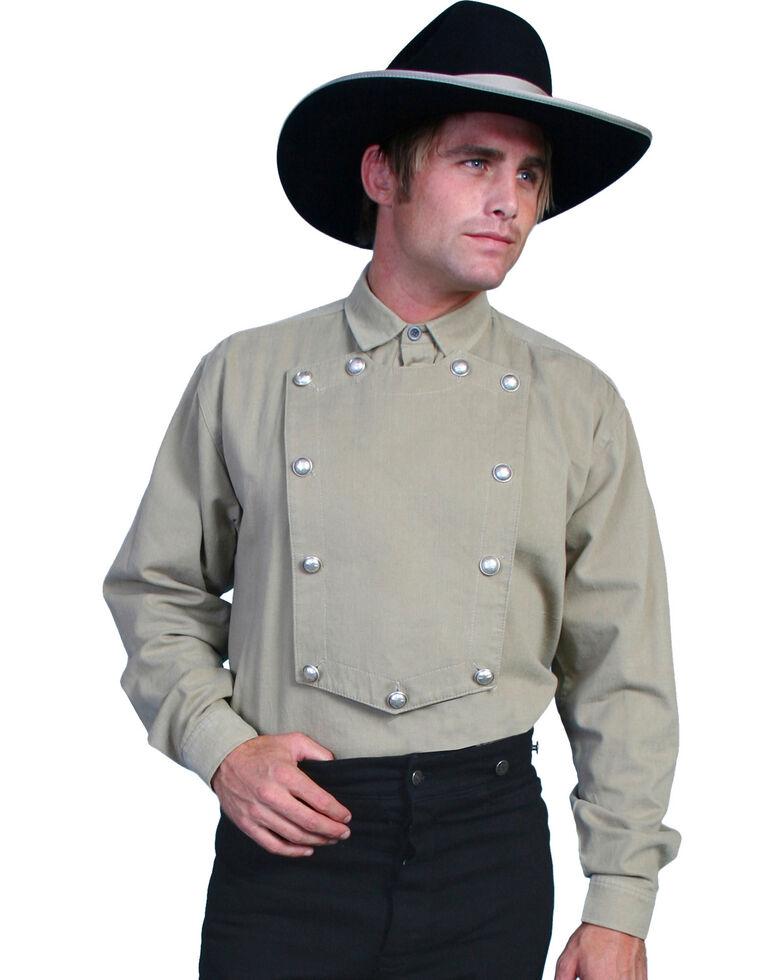 Wahmaker by Scully Brushed Twill Bib Shirt, Tan, hi-res