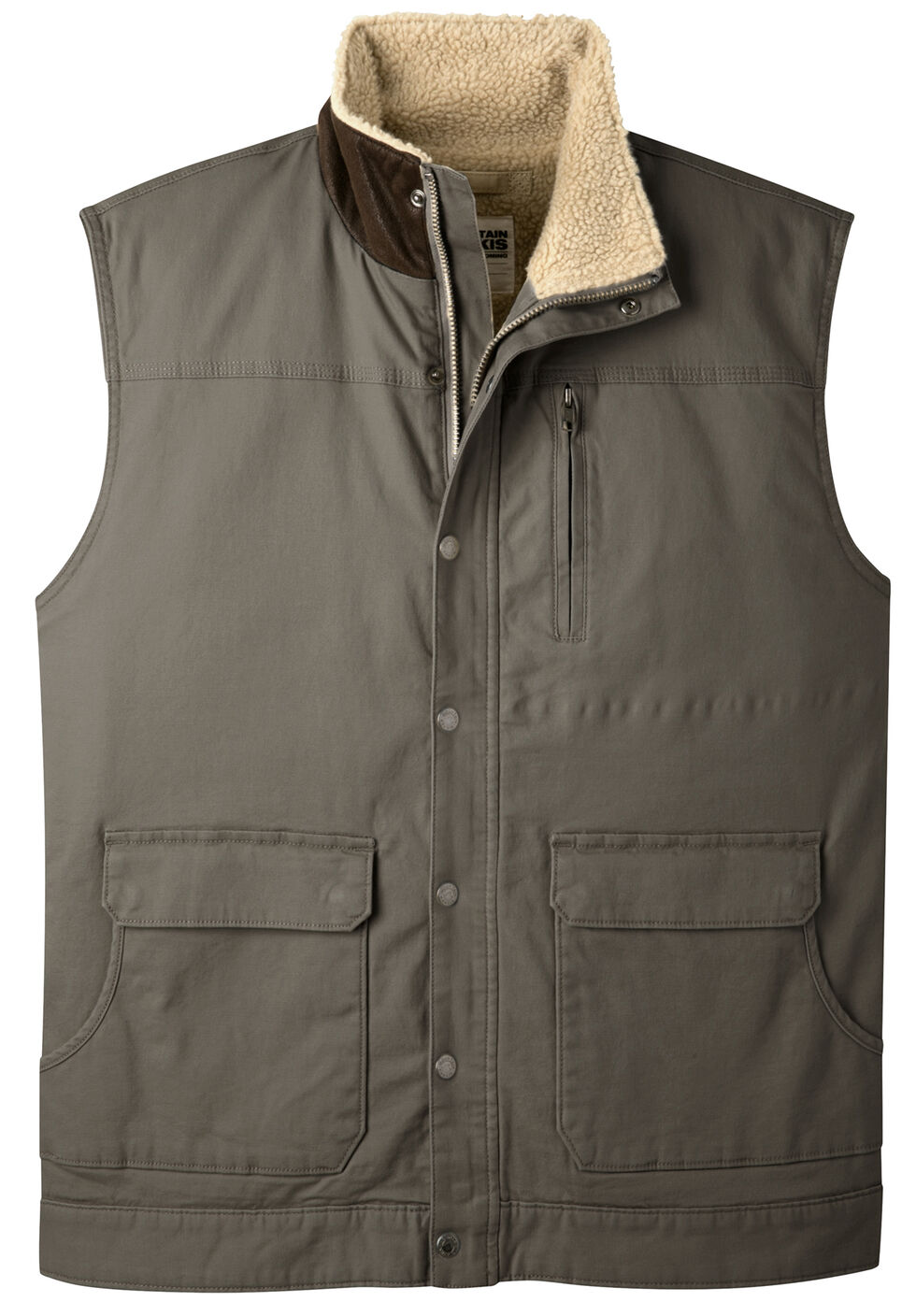 Mountain Khakis Men's Ranch Shearling Vest, Bark, hi-res