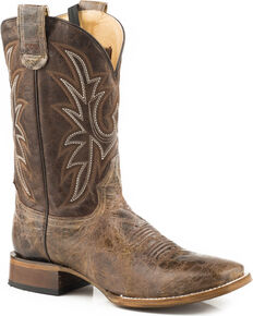 Roper Men's Pierce Sidewinder Concealed Carry System Cowboy Boots - Square Toe , Brown, hi-res