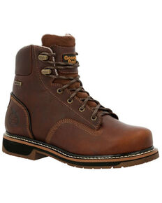 Georgia Men's AMP LT Edge Waterproof Work Boots - Alloy Toe, Brown, hi-res