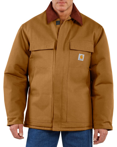 Carhartt Arctic Lined Duck Work Coat, Carhartt Brown, hi-res